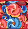 flower with multicolored petals vector image vector image