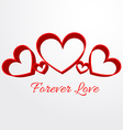 forever love background vector image vector image