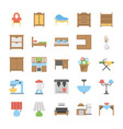 furniture flat icons vector image vector image