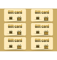 Gift card with gift boxes vector image vector image