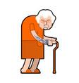 grandmother prisoner crime grandma gangster in vector image