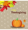 Greeting card template for Thanksgiving Day vector image vector image