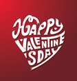 Happy Valentines Day Hand Drawing Paper craft vector image vector image