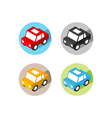 isometric car icon flat design vector image vector image