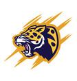 leopard logo design vector image vector image