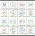 modern application linear bright icons templates vector image vector image