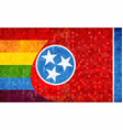 mosaic tennessee and gay flags vector image vector image