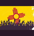 new mexico state flag with audience vector image vector image