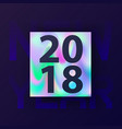 new year holographic card vector image vector image