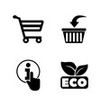 online shopping simple related icons vector image vector image