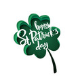 paper cut shapes with silhouette of clover leaf vector image vector image