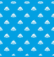 pirate bomb pattern seamless blue vector image vector image