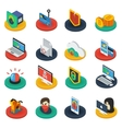 Protection Of Digital Information Isometric Icons vector image vector image
