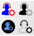 service call center eps icon with contour vector image
