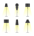 set lamps vector image vector image