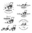 set vintage garden service emblems vector image vector image