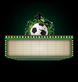 soccer neon sign for text banner vector image vector image