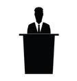 speaker silhouette vector image vector image