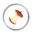 Stub of apple icon in cartoon style isolated on