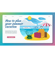 summer vacation flat design vector image