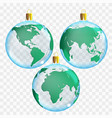 template of glass transparent christmas balls vector image vector image