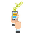 touch smartphone to payment vector image