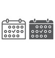 training schedule line and glyph icon sport and vector image vector image