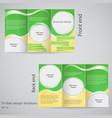 tri-fold brochure design brochure template design vector image vector image