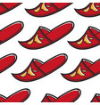 turkish shoe with ornament khussa slipper or flip vector image
