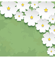 Vintage floral background with 3d flower vector image vector image