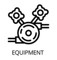 welder equipment icon outline style vector image
