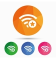 Wifi star sign Favorite Wi-fi symbol Wireless vector image