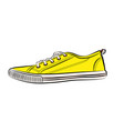 yellow sneakers icon flat of sneaker vector image vector image