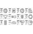 Mobility line icon set vector image