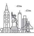 new york usa line icon sign vector image