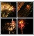 Mosaic Fireworks Set vector image