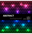Abstract disco glowing chevron of background vector image vector image