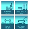 abstract postcards for trip of england vector image