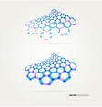 Abstract wave hexagons template vector image vector image