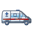 ambulance car icon cartoon style vector image vector image