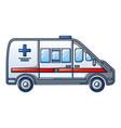 ambulance car icon cartoon style vector image