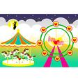 amusement park wedding backdrop vector image