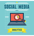 Analytics social media information vector image vector image