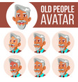 arab muslim old man avatar set face vector image vector image