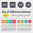 Barcode icon sign Big set of colorful diverse vector image