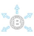 bitcoin emission mesh network model vector image vector image
