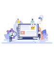 blogging concept seo blog web vector image vector image