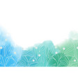 blue and green watercolor splash in cool tone vector image vector image