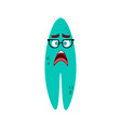 cartoon flat disappointed monsters green icon vector image