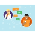 chatting with friends via messenger app vector image
